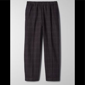 NWT Babaton Jimmy Pants in Charcoal Fine Grid